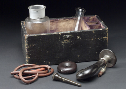 Incomplete case of Buxton's apparatus.