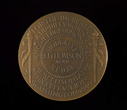 Hodgkins Medal of the Smithsonian Institution, 1902.