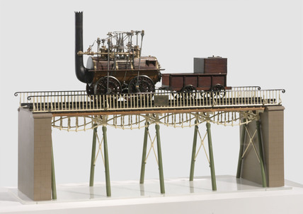Steam locomotive No 1, 'Locomotion', model, 1825.