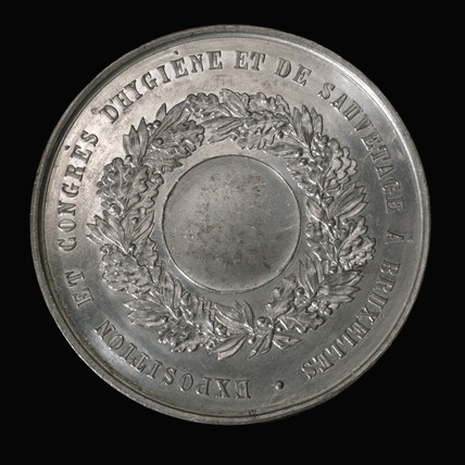 Medal commemorating a health conference, Brussels, late 19th century.