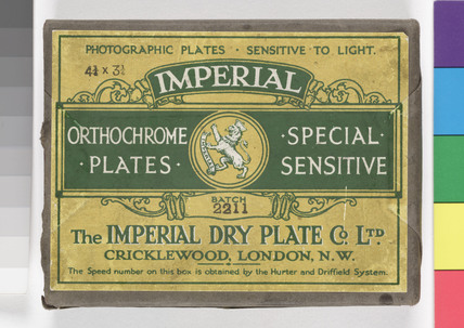 'Imperial' photographic plates, c 1920s.