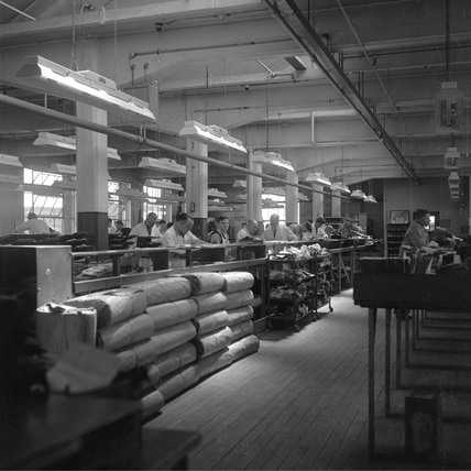 General View Of Shoe Factory Leicester 1950 At Science And