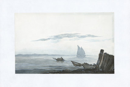 Light cumulus and stratus above a sea inlet, 1803-1811.
