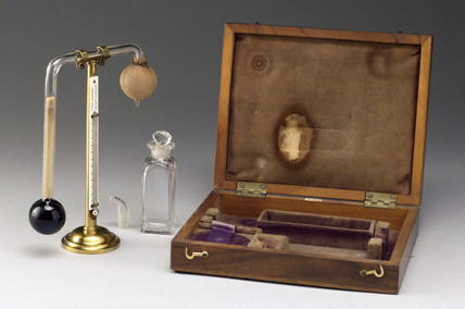Daniell hygrometer made by W. and S. Jones, c 1825.