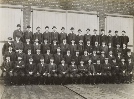 Doncaster Railway works staff, South Yorkshire, c 1916.