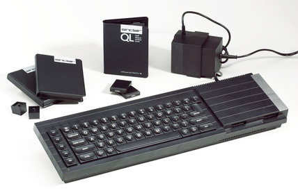 Sinclair QL microcomputer, c 1984.