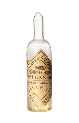 Ampoule of dysentery vaccine, c 1916.