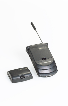 Mobile cellular telephone, 'Star T-A-C', by Motorola, c.1990's.