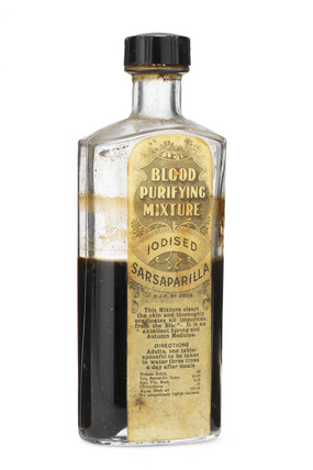 Bottle of 'Blood Purifying Mixture', 1880-1930.