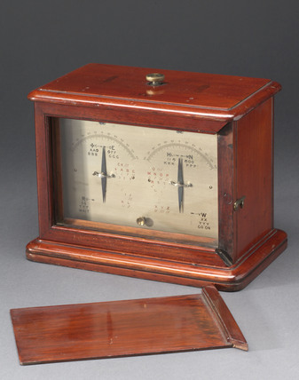 Portable double-needle telegraph and test set, 1850.
