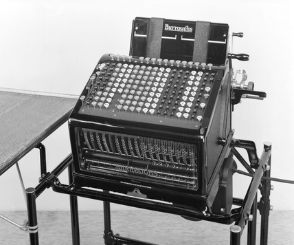 Burrough's adding and listing machine, 1926.