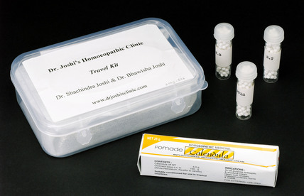 Homeopathic 'travel kit', India, 2005.