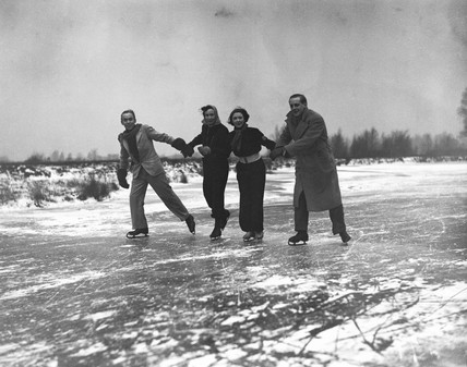 Ice skaters, 20 January 1938.