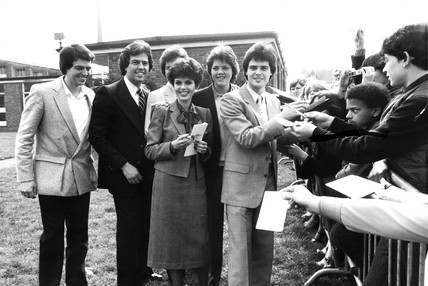 The Osmonds in Britain, April 1980.