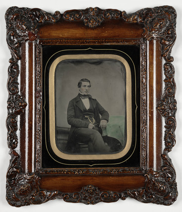 Portrait of a young man, c 1860.