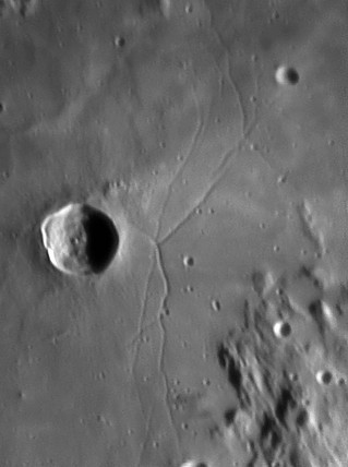 Triesnecker Crater and Rille, 18 March 2005.