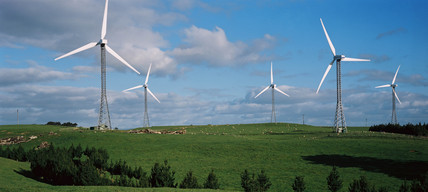 Wind turbines, Lower North Island, New Zealand, November 2001.