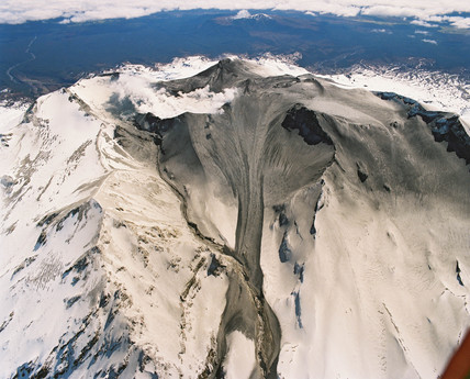 Mount Ruapehu erupting, New Zealand, September 1995.