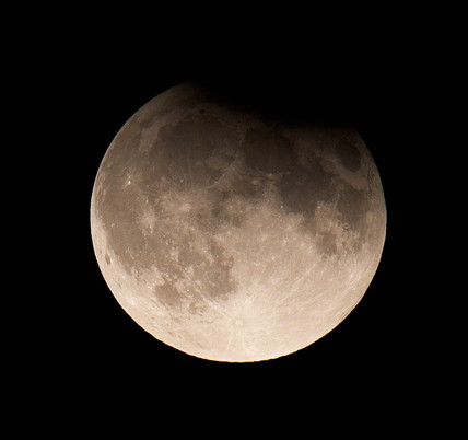 Lunar eclipse, United Kingdom, 7 September 2006.