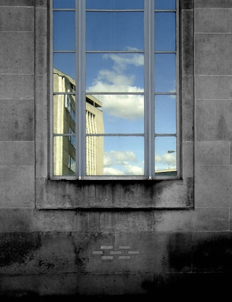 Reflection in a window, Bradford, West Yorkshire, 2007.