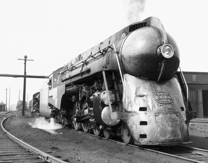 J-3a 'Hudson' New York Central 4-6-4 steam locomotive No 5447, USA, 1941.