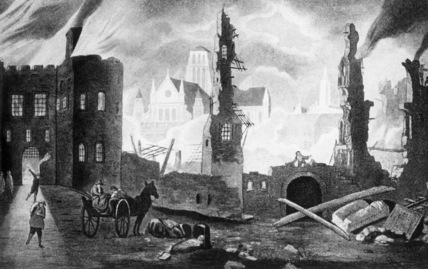 Great fire of London, 1666. The great fire