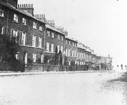 Russell Street with Holy Trinity Church, Reading, c 1844-1847.