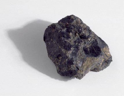 Specimen of pitchblende, a radioactive material.