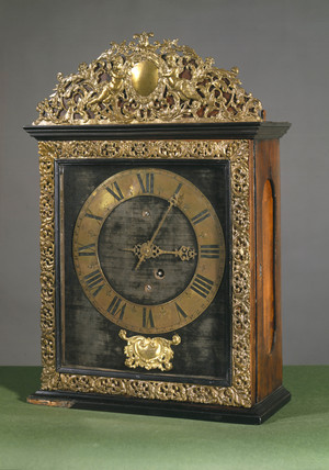 Bracket clock, French, c 1680.