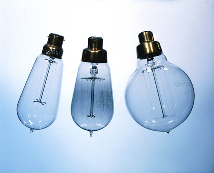 Electric filament lamp, c 1905.