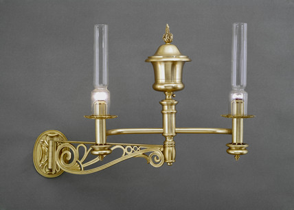 Pair of annular wick Argand lamps, c 1800.