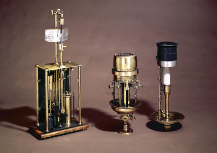 Three lighthouse lamps, mid-19th century-early 20th century.