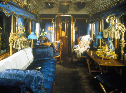 Queen Victoria's royal saloon, 1869.
