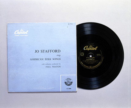 'Jo Stafford Sings American Folk Songs', early Bakelite LP record, c 1930s.