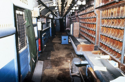 Interior of a BR travelling post office.