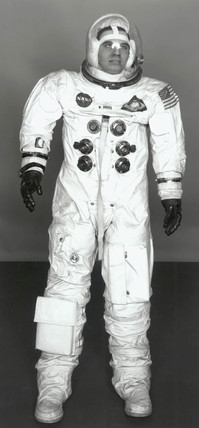 Space suit worn by William Anders on the Apollo 8 mision, 1968.