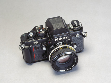 Nikon F3 HP camera body and f1.8 50mm lens, c 1980.