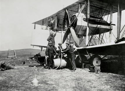 Alcock and Brown's transatlantic Vickers-Vimy biplane, 1919.