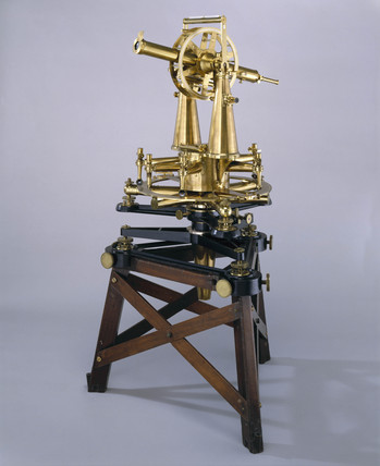 Two foot geodetic theodolite made by Troughton & Simms, 1828.