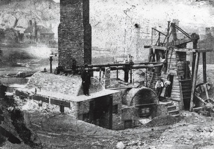 Newcomen Colliery winding engine, Coalbrook, Shropshire, c 1790.