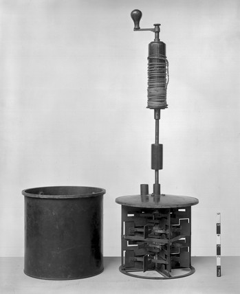 Calorimeter from Joule's water friction apparatus, 1849.