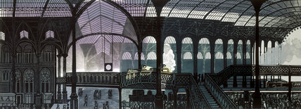 Liverpool Street Station, 1961. Lithograph