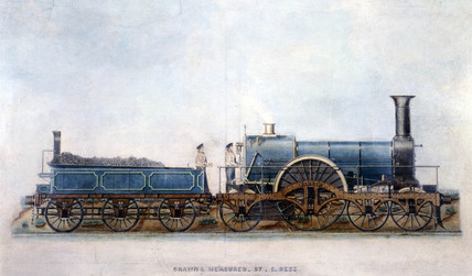 Great Western Railway 4-2-2 locomotive 'Tartar', 1848.