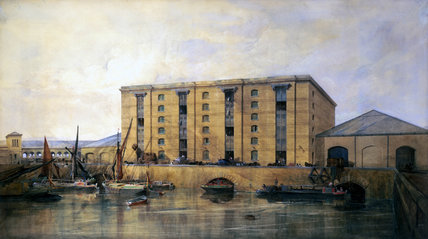 Warehouse at King's Cros, London, c 1850.