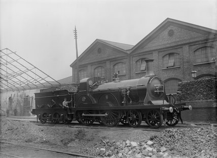 South Eastern Railway  (SER) 4-4-0 locomotive no.205 Stirling class F.