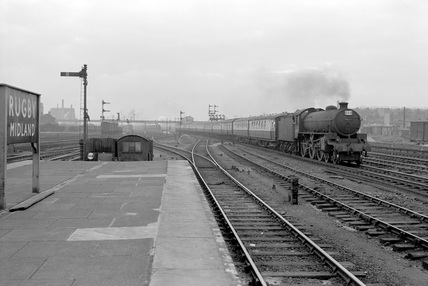 61083 Bourneville-Cromer at Rugby Midland Station, May 1957. (Real K, K_3394).