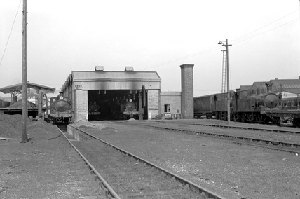 Ryde Shed, Isle of Wight, April 1957. (Real K series, K_3352).