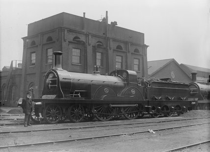 South Eastern Railway  (SER) 4-4-0 locomotive no.240 Stirling class F.