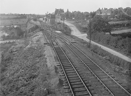 Thorpe-le-Soken, Essex. View of station looking east towards Colchester.