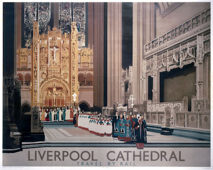'Liverpool Cathedral', LNER poster, 1937